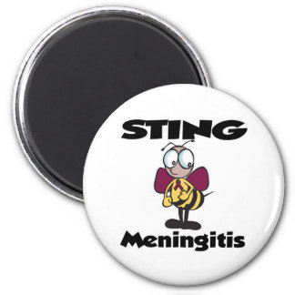 STING Meningitis 2 Inch Round Magnet