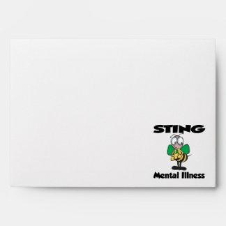 STING Mental Illness (green) Envelopes