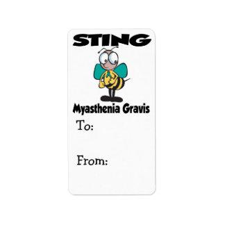 STING Myasthenia Gravis Label