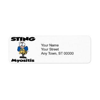 STING Myositis Custom Return Address Labels