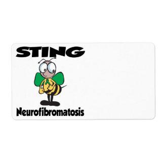 STING Neurofibromatosis Custom Shipping Labels