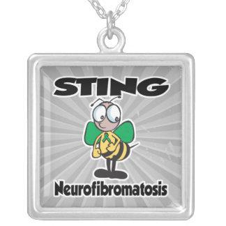 STING Neurofibromatosis Square Pendant Necklace