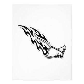Sting Ray Flames Letterhead