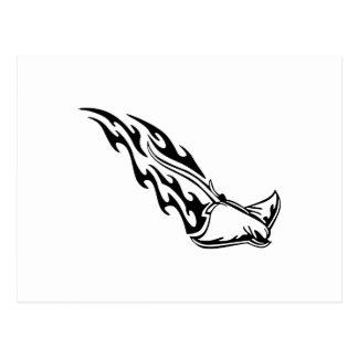 Sting Ray Flames Postcard
