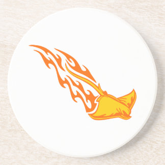 Sting Ray Flames Sandstone Coaster
