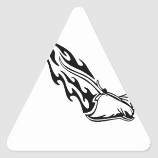 Sting Ray Flames Triangle Sticker
