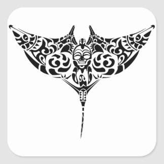 sting-ray gift square sticker