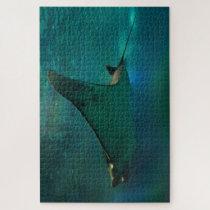 Sting Ray in an Aquarium. Jigsaw Puzzle