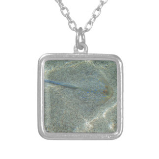 sting ray square pendant necklace