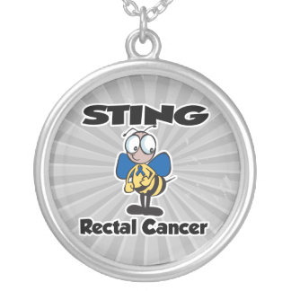 STING Rectal Cancer Round Pendant Necklace