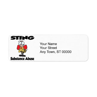 STING Substance Abuse Label