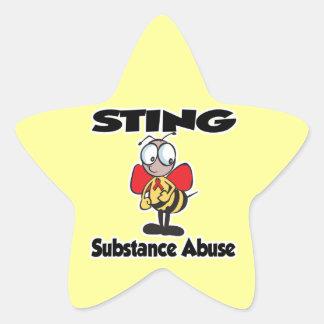 STING Substance Abuse Star Sticker