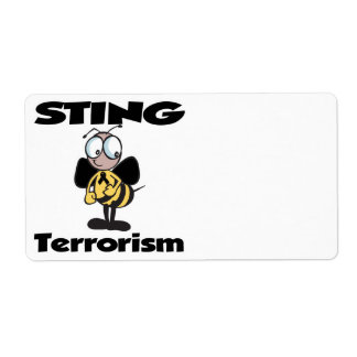 STING Terrorism Shipping Labels