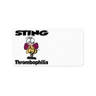 STING Thrombophilia Address Label