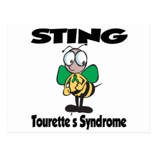 STING Tourettes Syndrome Postcard