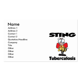 STING Tuberculosis Business Card Template
