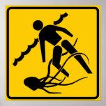Stinging Marine Life Warning Sign, Australia Poster