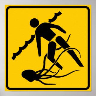 Stinging Marine Life Warning Sign, Australia Posters