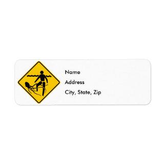 Stinging Marine Life Warning Sign Custom Return Address Labels