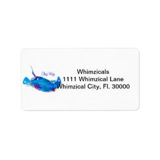 Stingray Address Stickers Label
