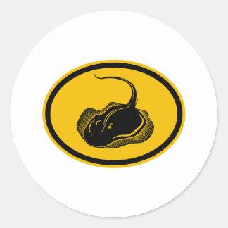 Stingray Classic Round Sticker