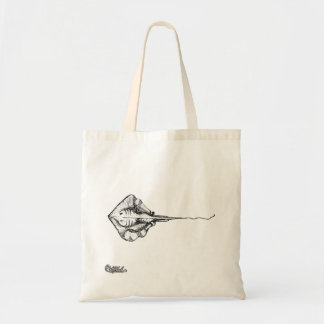 Stingray Illustration Tote Bag
