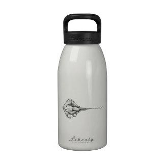 Stingray Illustration Water Bottles