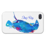 Stingray iPhone 4-4sCover in Blues iPhone 4/4S Cases
