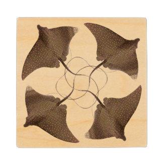 StingRay Pattern 2 Maple Wood Coaster