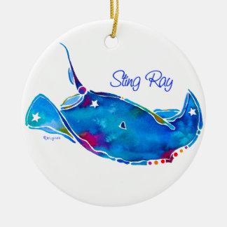 Stingray Round Ornament