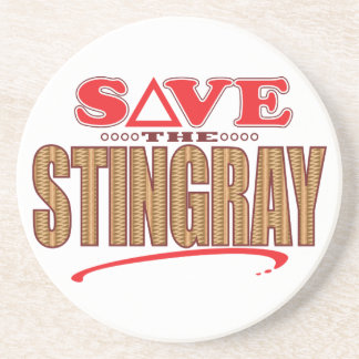 Stingray Save Sandstone Coaster
