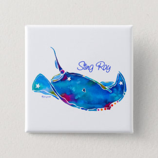 Stingray Square Pin Button