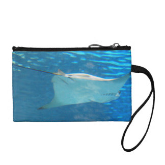 Stingray Swimming Coin Purse