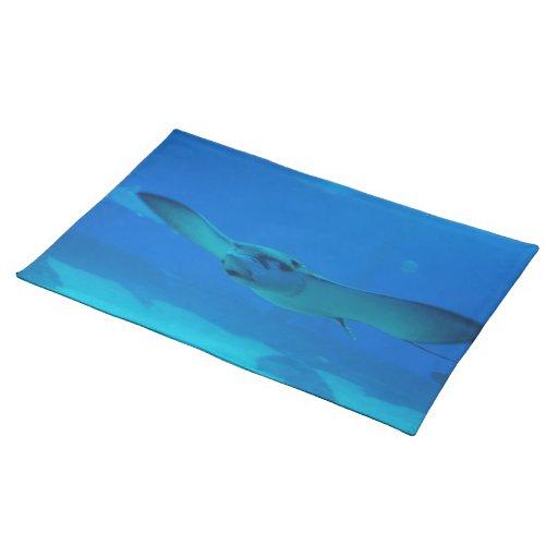 Stingray Swimming Under Water Place Mats