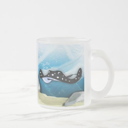 Stingray Swoop 10 Oz Frosted Glass Coffee Mug