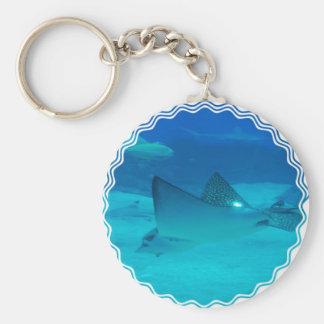 Stingray Underwater  Keychain