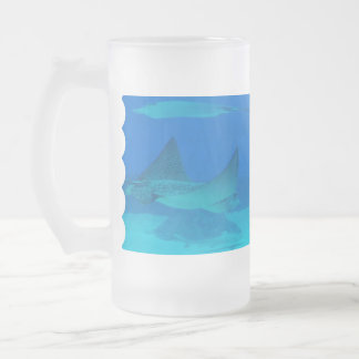 Stingrays Glass Beer Mugs