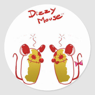 Stings Dizzy Mouse - Love Mouse Classic Round Sticker