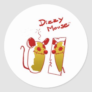 "Stings Dizzy Mouse - ""Mirror Mouse"". Classic Round Sticker"