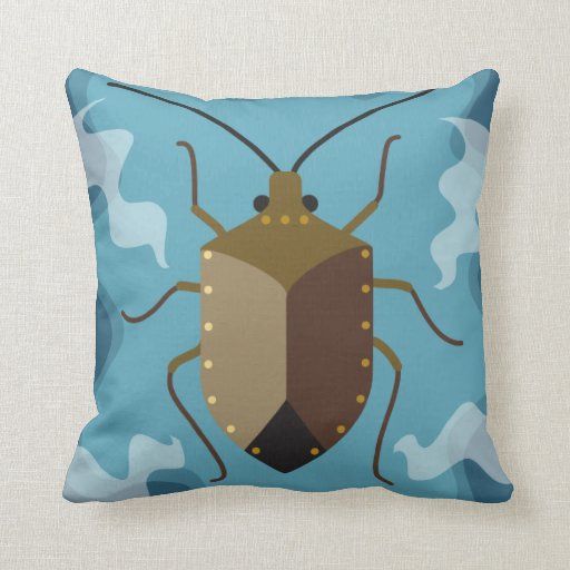 Throw Out Pillows Bed Bugs : Stink bug and ladybug throw pillows Zazzle