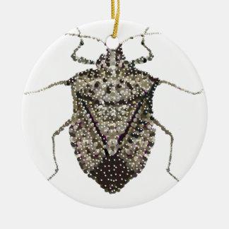 stink bug ceramic ornament