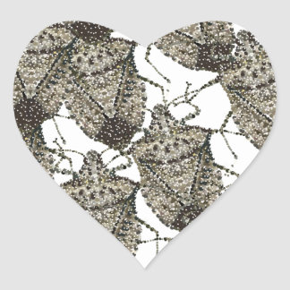 Stink Bugs bedazzled Heart Sticker