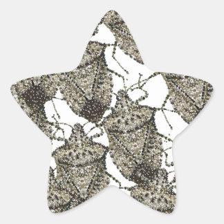 Stink Bugs bedazzled Star Sticker