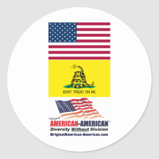 Stink Bugs Don't Tread on Me Classic Round Sticker