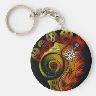 stink foot basic round button keychain