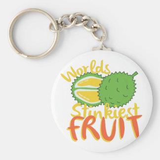 Stinkiest Fruit Basic Round Button Keychain