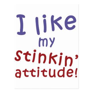 Stinkin' Attitude Postcard