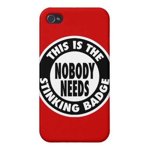 Stinking Badge Case For iPhone 4