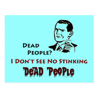 Stinking Dead People Retro Humor Postcard