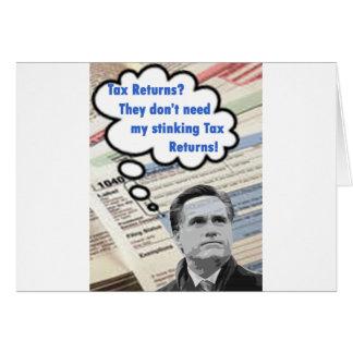 stinking tax returns card